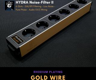 Hydra6 Rhodium- Gold II hálózati szűrős elosztó