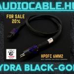 Hydra Power Black-Gold tápkábel 1db -20% 1Méter